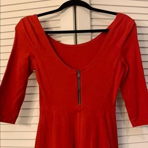 Express Dresses - Express red A-line dress with quarter sleeves